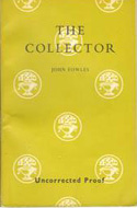 Proof copy of Fowles' The Collector