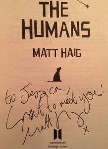 Matt Haig Signature The Humans
