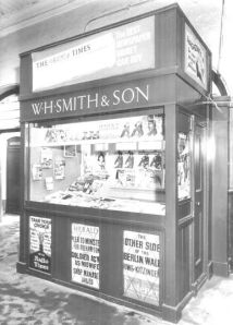 W H Smith Bookstall at London Euston