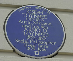 Joseph Toynbee and Arnold Toynbee, Blue Plaque, Wimbledon