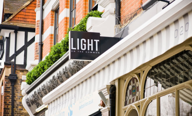 Sign Outside Light on the Common, Wimbledon Village