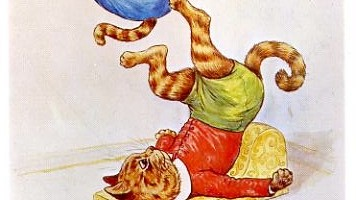 Acrobatic Cats by Louis Wain