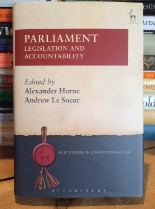 Parliament: Legislation and Accountability, Hart, 2016