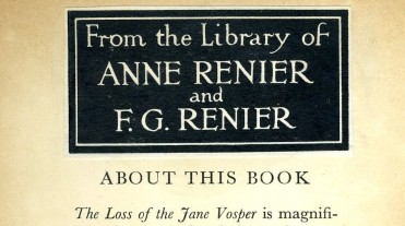 000002 Bookplate in the Loss of the Jane Vosper