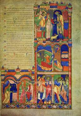 The Morgan Leaf, Opening the Book of Samuel , from the Winchester Bible